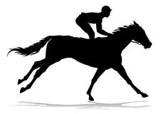 Jockey on a horse. Jockey riding a horse. Horse races. Competition Royalty Free Stock Image