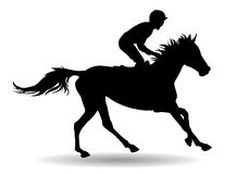 Jockey on a horse. Jockey riding a horse. Horse races. Competition Stock Photos