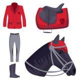 Jockey horse vector hippodrome champion animal stallion competition nature farm riding activity sport leisure Stock Images