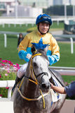 Jockey Keith Yeung Ming-lun in Hong Kong Stock Images
