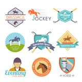 Jockey Label Set Stock Photography