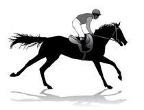 Jockey op paard Royalty-vrije Stock Foto's