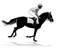 Jockey op paard Stock Foto's