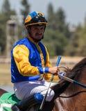 Jockey på Cal Expo Arkivfoton