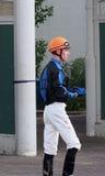 Jockey At Race Track lizenzfreie stockfotografie