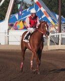 Jockey At Race Track lizenzfreie stockbilder