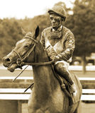 Jockey Rajiv Maragh and Risk a Chance Royalty Free Stock Images