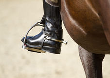 Jockey riding boot Royalty Free Stock Photography