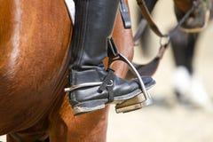 Jockey riding boot Stock Image