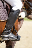Jockey riding boot Royalty Free Stock Images
