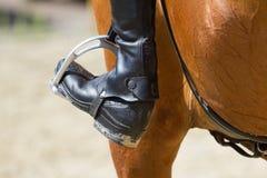 Jockey riding boot Royalty Free Stock Photography