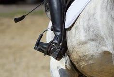Jockey riding boot Stock Photography