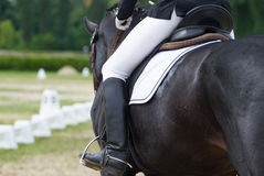 Jockey riding boot Stock Photos