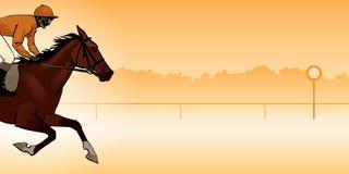 Jockey riding a horse Stock Photos