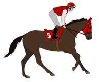 Jockey riding race horse illustration 5 Stock Photography
