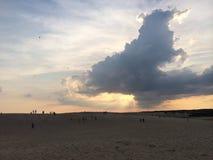 Jockey's Ridge. Sunset sand clouds Royalty Free Stock Image