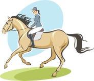 Jockey sur un cheval illustration de vecteur
