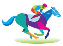 Jockey takes part in the races Stock Images