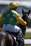 Jockey u. Pferd 01 Lizenzfreie Stockfotos