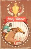 Jockey Winner Vintage Poster Photo stock