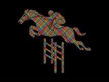 Jockeyreitpferd, laufender Schlauch, Reiter vektor abbildung