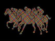 Jockeyreitpferd, laufender Schlauch, Reiter lizenzfreie abbildung