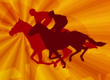 Jockeys on the abstract background Royalty Free Stock Photos