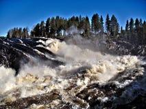 Jockfall-vattenfall Fotografering för Bildbyråer