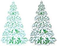 jodła zakrywający śnieg royalty ilustracja
