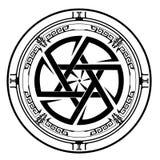Jodenster, Schild van David, Jodenster, illustratie, pictogram Royalty-vrije Stock Foto's