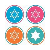 Jodensterpictogrammen Symbool van Israël Stock Afbeelding