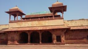 Jodha Bai Palace, Fatehpur Sikri Arkivbild