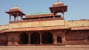 Jodha Bai Palace, Fatehpur Sikri. Jodha Bai's Palace is the central structure in Fatehpur Sikri's harem complex. It was a nearly self-contained complex, fronted Stock Photography