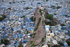 Jodhpur. Aerial view of roofs of blue city of Jodhpur, Rajasthan, India Stock Image
