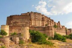 Jodhpur. Mehrangarh fortress in Jodhpur, Rajasthan, India Royalty Free Stock Photography