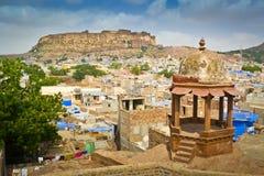 Jodhpur. Panoramic view of the city of Jodhpur and Mehrangarh fort, Rajasthan, India Royalty Free Stock Photography