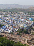 Jodhpur, the Blue City. The blue city of the Brahmins seen from Mehrangarh Fort Royalty Free Stock Image