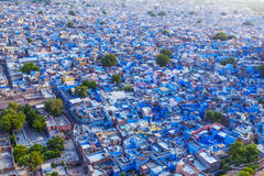 Jodhpur the. Blue city in Rajasthan state in India. View from the Mehrangarh Fort Royalty Free Stock Photography