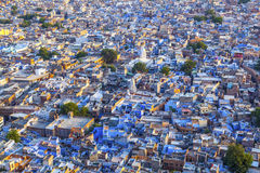 Jodhpur the. Blue city in Rajasthan state in India. View from the Mehrangarh Fort Stock Image