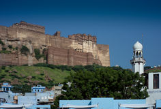 Jodhpur Castle & the Blue City Stock Photo