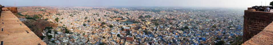 Jodhpur city from meherangarh fort Royalty Free Stock Images
