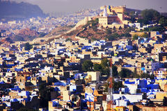 Jodhpur city seen from Mehrangarh Fort, India Royalty Free Stock Images