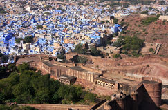 Jodhpur city seen from Mehrangarh Fort, India Stock Photography