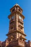 Jodhpur Clocktower. Jodhpur, India,18th January 2017 - The  famous clocktower in Jodhpur Royalty Free Stock Photo