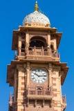Jodhpur Clocktower. Jodhpur, India,18th January 2017 - The  famous clocktower in Jodhpur Royalty Free Stock Images
