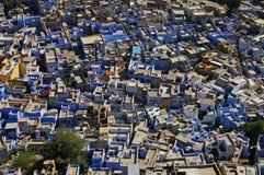 Jodhpur, de blauwe stad. Stock Foto