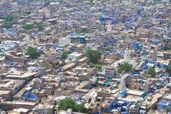 Jodhpur - den blåa staden Rajasthan Indien Arkivfoto