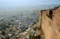 Jodhpur den blåa stadssikten från det Mehrangarh fortet Arkivbild