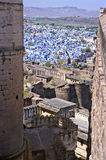 Jodhpur from fort. Panorama of Jodhpur, the blue city of Rajasthan, from the Meherangarh fort. India Royalty Free Stock Photography