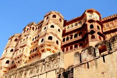 Jodhpur Fort. Also Known as Mehrangarh Fort in Jodhpur district of Rajasthan ,India.Once described by Kipling as The work of angels and giants Royalty Free Stock Photos
